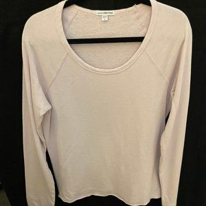 James Perse Pink French Terry Sweatshirt_Size 4